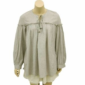 1810 Free People Shimmer Drawstring tunic top S 6